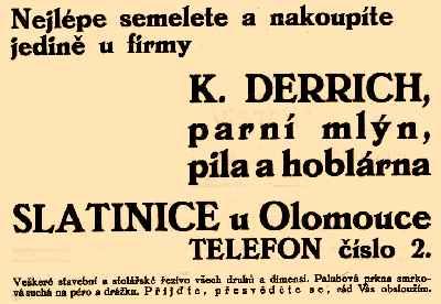 Reklama z roku 1936
