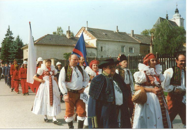 Průvod obcí - oslavy 750LET OBCE